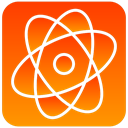Atom, scientific OrangeRed icon