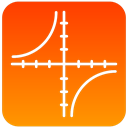 graph, scientific, axis OrangeRed icon