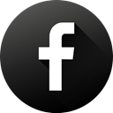 Social, long shadow, High Quality, Circle, Facebook, social media, Black white DarkSlateGray icon