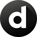Circle, social media, Dailymotion, Black white, Social, long shadow, High Quality DarkSlateGray icon