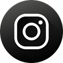 Circle, social media, Social, Instagram, long shadow, High Quality, Black white DarkSlateGray icon