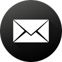 mail, Circle, social media, Black white, Social, long shadow, High Quality DarkSlateGray icon