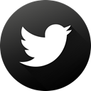 Circle, twitter, social media, Black white, Social, long shadow, High Quality DarkSlateGray icon