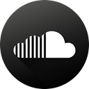 Circle, social media, Social, Soundcloud, long shadow, High Quality, Black white DarkSlateGray icon