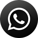 Circle, social media, Social, Black white, Whatsapp, long shadow, High Quality DarkSlateGray icon