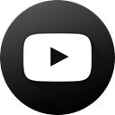 Social, youtube, long shadow, High Quality, Black white, Circle, social media DarkSlateGray icon