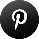 social media, Social, pinterest, long shadow, High Quality, Black white, Circle DarkSlateGray icon
