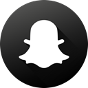 long shadow, High Quality, Black white, Circle, social media, Social, Snapchat DarkSlateGray icon