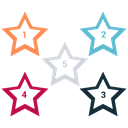 star, White, mark, rank Black icon