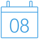free, outline, Blue, Calendar, ui Black icon