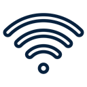 Wifi, technology, electronic, Computer, web Black icon