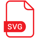 Eps, Svg File, document, File, Format Crimson icon