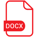 document, File, Format, Eps, Docx Crimson icon