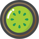 food, Fruit, organic, Kiwi, vegetarian, vegan YellowGreen icon