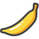 food, Fruit, organic, Banana, vegetarian, vegan Black icon