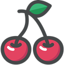 vegetarian, vegan, Fruit, organic, Cherry, food DarkSlateGray icon