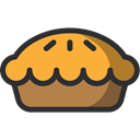 baker, pie, food, Dessert, Bakery Black icon
