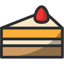 cake, food, Dessert, Bakery, baker DarkSlateGray icon