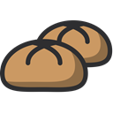 Bakery, bun, baker, food, Dessert DarkKhaki icon