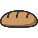 food, Dessert, Bakery, baker, Baguette Black icon