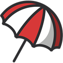 weather, Protection, Rain, save, Umbrella, Safe, rainy DarkSlateGray icon