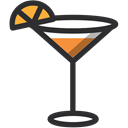 Alcohol, drink, cocktail, leisure, drinking, summsertime, party Black icon