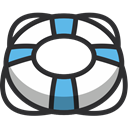 life ring, security, Float, ring, Lifering, Life Guard DarkSlateGray icon