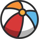 Ball, Beach ball, Beach, Holidays, summer, Fun DarkSlateGray icon