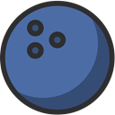 Bowling, Fun, Game, Ball, sport SteelBlue icon