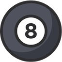 pool, snooker, Game, play, Ball, sport DarkSlateGray icon