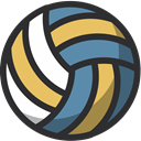 Ball, sport, equipment, training, volleyball, gym DarkSlateGray icon