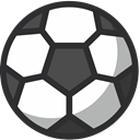 Ball, sport, Football, soccer DarkSlateGray icon