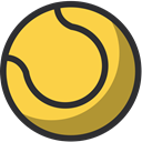 entertainment, Excercise, Ball, sport, tennis SandyBrown icon