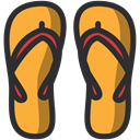 Holidays, summer, slippers, Beach DarkSlateGray icon
