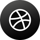 High Quality, Black white, social media, Social, dribbble, long shadow, Circle DarkSlateGray icon