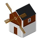 Farm, Windmill, mill Icon