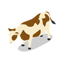 Animal, cow, Animals, Farm, rural Black icon