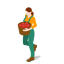 people, Female, woman, Farm, Farmer, gathering Icon
