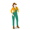 people, Female, woman, standing, Farm, Farmer SeaGreen icon