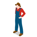 Man, people, male, standing, Farm, Farmer Black icon