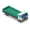 vehicle, Farm, rural, Lorry, Front, truck Black icon