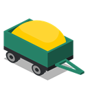 Trailer, rural, vehicle, Farm Black icon