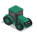 Front, vehicle, tractor, Farm, rural Black icon