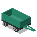 Front, vehicle, Farm, Trailer, rural SeaGreen icon