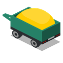 Back, vehicle, Farm, Trailer, rural Icon