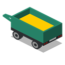 Back, vehicle, Farm, Trailer, rural Black icon