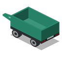 Back, vehicle, Farm, Trailer, rural SeaGreen icon