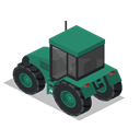 Back, vehicle, tractor, Farm, rural Black icon