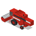 Back, vehicle, Combine, Farm, rural Firebrick icon