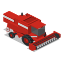 Front, vehicle, Combine, Farm, rural Firebrick icon